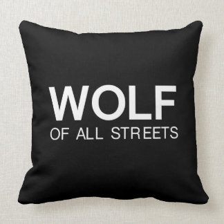 Nice Wolf of all Streets Print Cushion