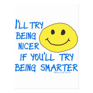 Nicer Smarter Postcard