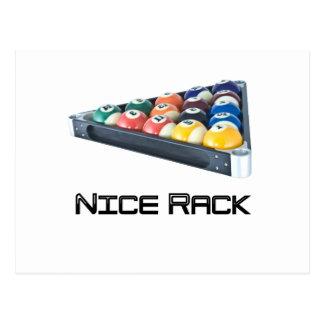 NiceRack Black Postcard
