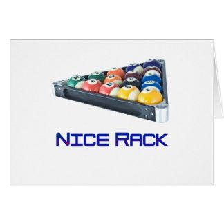 NiceRack Blue Greeting Card