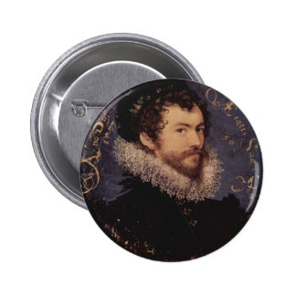 Nicholas Hilliard, Self-Portrait, 1577 6 Cm Round Badge