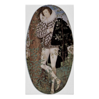Nicholas Hilliard - Young man among the roses Poster