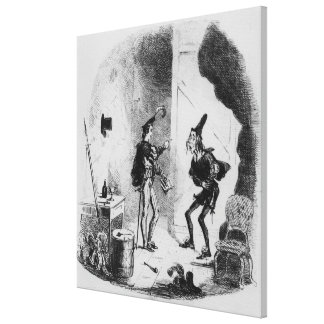 Nicholas instructs Smike in the art of acting Canvas Print