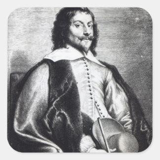 Nicholas Lanier, engraved by Lucas Vostermans Square Sticker