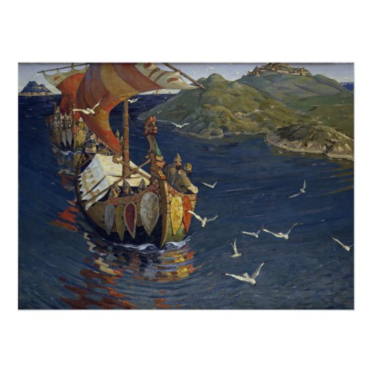Nicholas Roerich Guests from Overseas Print on Can
