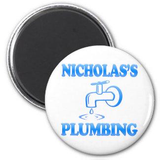 Nicholas's Plumbing 6 Cm Round Magnet