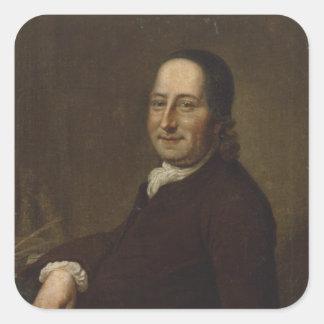 Nicholaus Ludwig Count von Zinzendorf Square Sticker