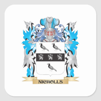 Nicholls Coat of Arms - Family Crest Square Sticker