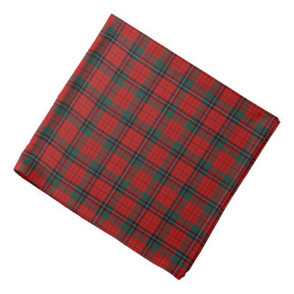 Nicholson Clan Tartan Red, Black and Green Plaid Bandana