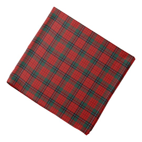 Nicholson Clan Tartan Red, Black and Green Plaid