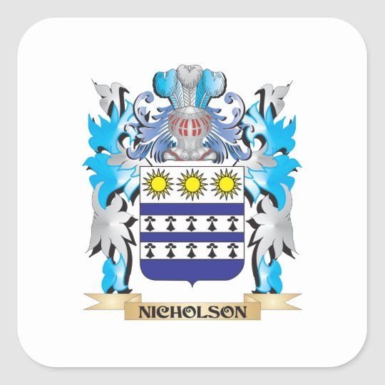 Nicholson Coat of Arms - Family Crest Square