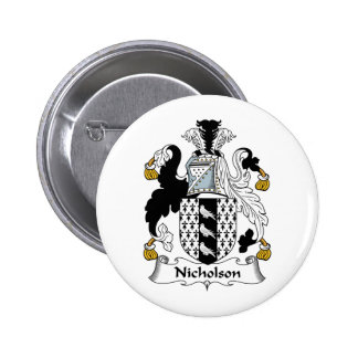 Nicholson Family Crest 6 Cm Round Badge