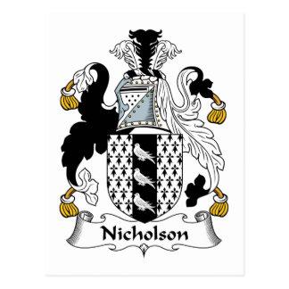 Nicholson Family Crest Postcard