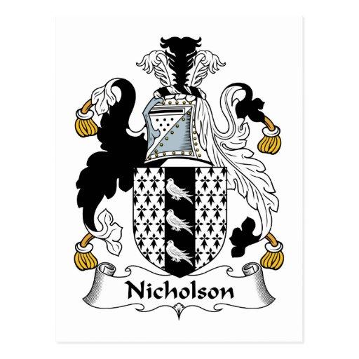 Nicholson Family Crest Post Card