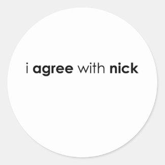nick.ai classic round sticker