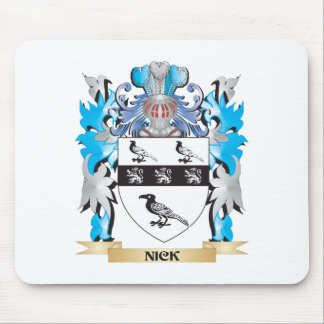 Nick Coat of Arms - Family Crest Mousepad