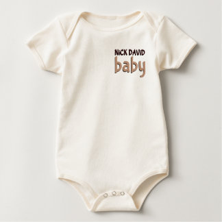 NiCK DAViD baby - Organic Fabric One-Piece Baby Bodysuit
