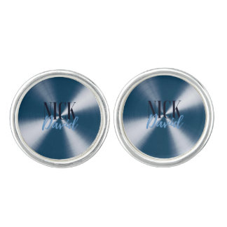 NiCK DAViD Logo Cufflinks - Navy