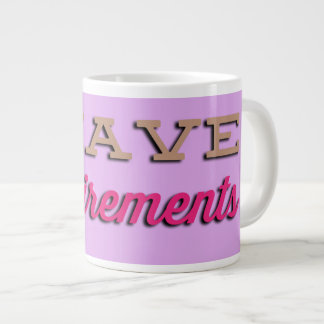 NiCK DAViD - Requirements Jumbo Mug