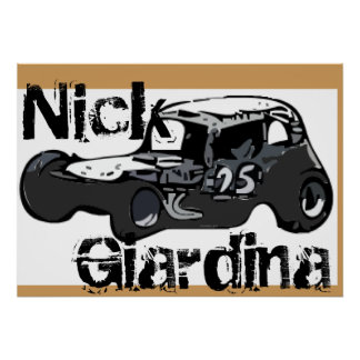 Nick Giardina Coupe Stockcar Modified Racing Car Poster