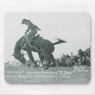 Nick Knight riding T. Joe at Cheyenne Frotier Days Mouse Mat