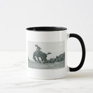 Nick Knight riding T. Joe at Cheyenne Frotier Days Mug