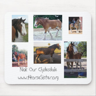 nick our Clydesdale collage mouse pad