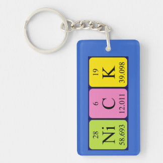 Nick periodic table name keyring