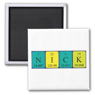 Nick periodic table name magnet