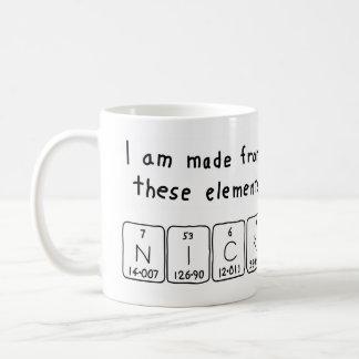 Nick periodic table name mug