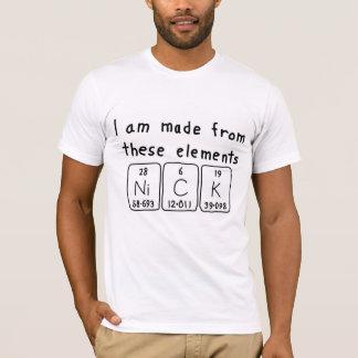 Nick periodic table name shirt