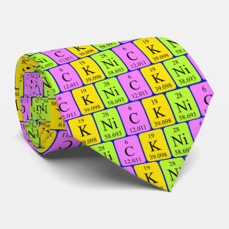 Nick periodic table tie