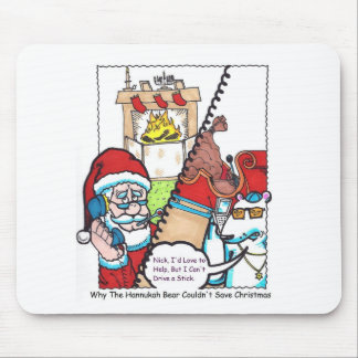 """Nick & The Bear """"Can't Drive a Stick!"""" Mouse Pad"""