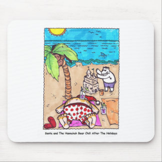 Nick & The Bear Chillin' at the Beach Mouse Pad