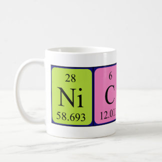 Nicki periodic table name mug