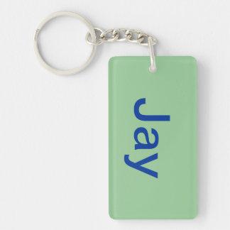 nicknames Single-Sided rectangular acrylic keychain