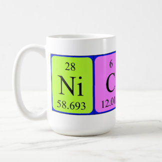 Nicky periodic table name mug