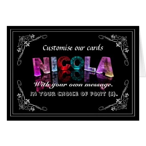 Nicola -  Name in Lights greeting card (Photo)
