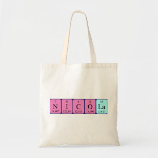 Nicola periodic table name tote bag