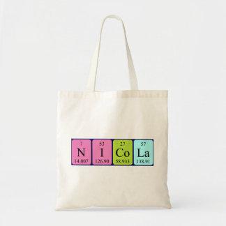 Nicola periodic table name tote bag