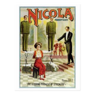 Nicola Prince of Magic ~ Vintage Magician Act Postcard