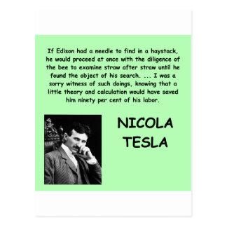 Nicola Tesla Postcard