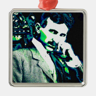 Nicola Tesla Vintage New Art Christmas Ornament