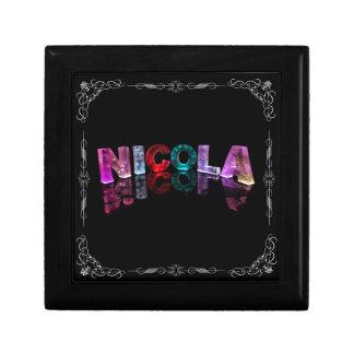 Nicola  - The Name Nicola in 3D Lights (Photograph Gift Box