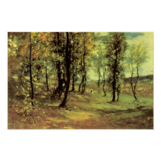 Nicolae Grigorescu - forest clearing Poster