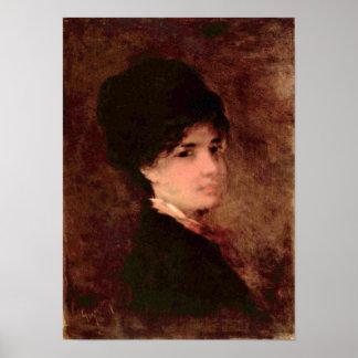 Nicolae Grigorescu - Portrait of a Woman Poster