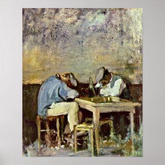 Nicolae Grigorescu - Two drunks Print