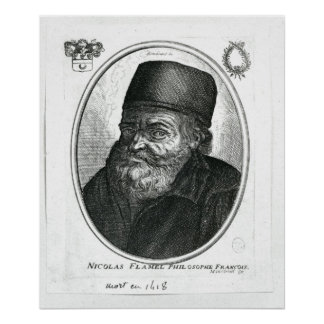 Nicolas Flamel engraved by Balthazar Moncornet Poster
