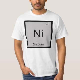 Nicolas Name Chemistry Element Periodic Table T-Shirt