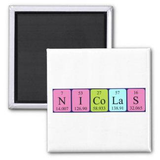 Nicolas periodic table name magnet